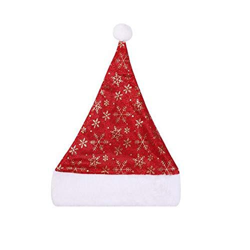 Weihnachtsmann Weihnachtsmann Hut Für Erwachsene, 2pc Weihnachten Old Man Ornament Weihnachtsmütze Dick Plaid Schneeflocke Hut Für Weihnachten Neujahr Festliche Weihnachtsfeier Lieferungen