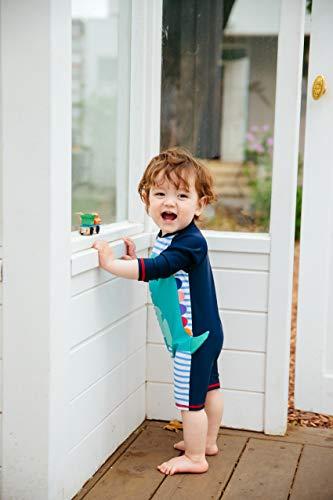 [VaenaitBaby]0-24ヶ月UVカットラッシュガードベビー子供ボーイズガールズワンピース水着DinoBlueXL