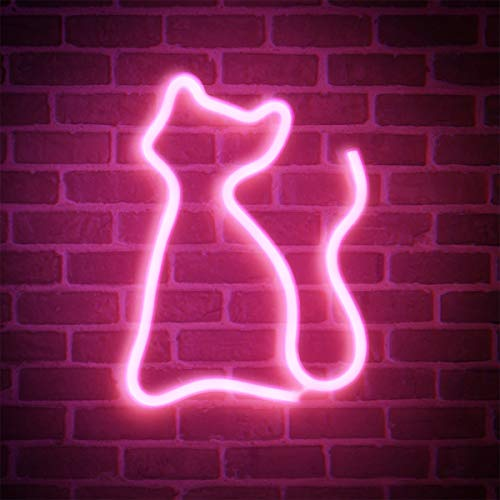 Letrero de luz de neón FOOING Letrero de neón Decoración de pared Luces de neón para dormitorio Luz de pared LED Batería y letrero LED operado por USB para regalos de niños Hogar, fiesta, Navidad.