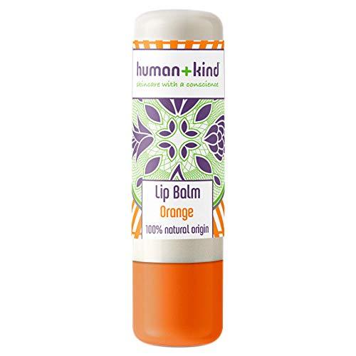 Human+Kind Bálsamo Labial de Naranja - Hidrata, Suaviza y Alivia Labios Secos y Agrietados - Cacao de Labios Rico en Vitamina E para Piel Sensible - Cuidado de la Piel Natural y Vegano - 4,8 g