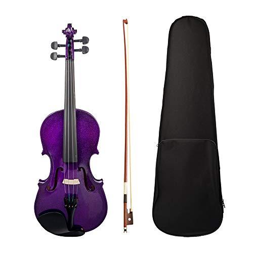 DSENIW QIDOFAN Violine 4/4 Violin-Fichte-Holz-Top-Panel-Basswood-Rückseite-Panel mit Gig-Tasche Brasilienholzbogen Instrumente
