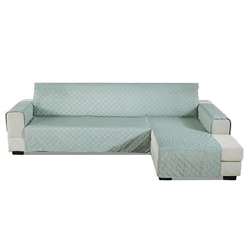 PETCUTE Funda Sofa Chaise Longue Acolchada Protector de sofá con Chaise Brazo Derecho Cubre Chaise Longue Fundas sofá Impermeables 200x270cm