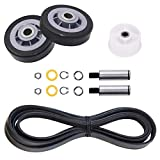12001541, 303373, 303373K Dryer Drum Roller Kit & 6-3700340, 33001783 Dryer Idler Pulley & WP33002535, 33001777, 33002535 Dryer Drum Belt Replacement for maytag, kenmore, Crosley Clothes Dryer
