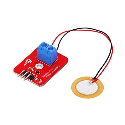 Simular Tambor piezoeléctrico del Sensor analógico del Sensor de vibración de cerámica Módulo piezoelectricidad DIY Kit
