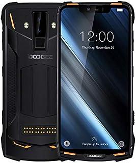DOOGEE S90 Rugged Phone, 6GB+128GB, IP68 Waterproof Dustproof Shockproof, Dual Back Cameras, Face ID & DTouch Fingerprint, 6.18 inch Screen Android 8.1,4G, NFC, OTA, Dual SIM(Orange)