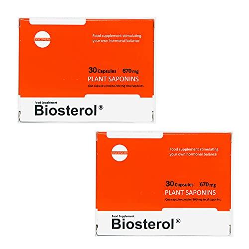 2 x Biosterol 30 Kapseln (insgesamt 60 Kapseln) Megabol Authentizität der Testosteron.