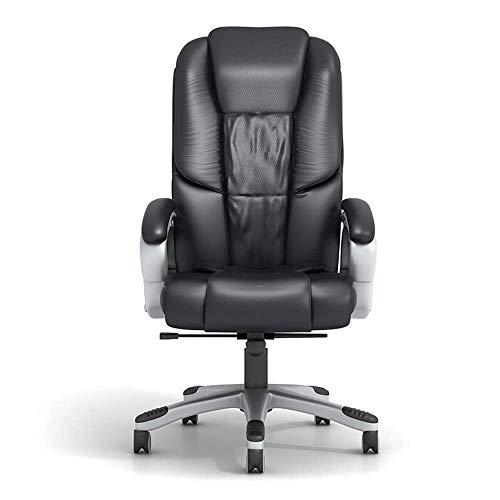 Videospielstuhl, drehbarer ergonomischer Drehstuhl für Managerstühle Schreibtisch Computersitz Höhenverstellbarer Bürostuhl PU-Leder Drehbarer Chefsessel Computer Bürostuhl (Farbe: