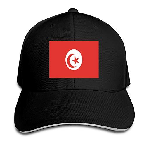 Unisex Tunesië Vlag Papa Hoeden Verstelbare Gewassen Honkbal Cap