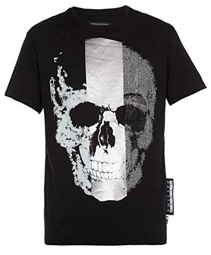Philipp Plein - Herren T-Shirt 'Skull' - Platinum Cut (Schwarz, L)