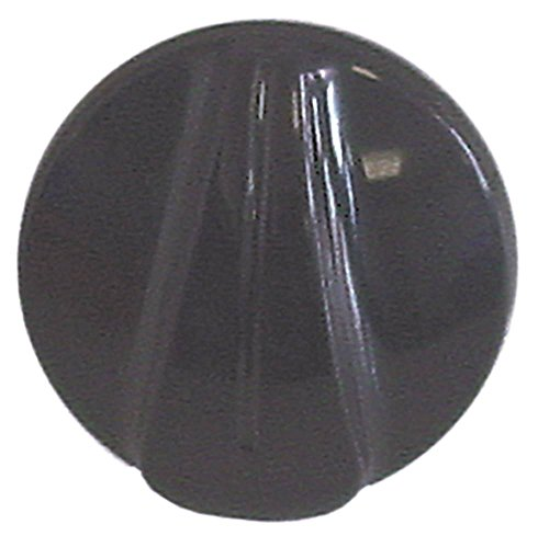 Roller-Grill knevel asafvlakking links as ø 6x4,6mm ø 40mm zwart symbool schakelaar nulstreep