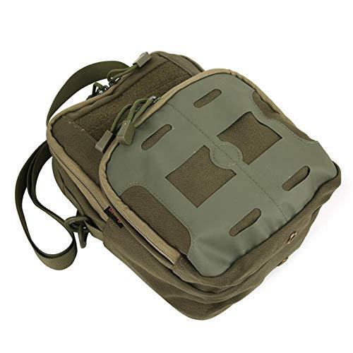 Mochila de lona Bolsa militar Bolsa enrollable para herramientas multiusos duradera de alta calidad, para escalada, acampada(green)