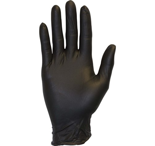Black Nitrile Exam Gloves - Medical Grade, Disposable, Powder Free, Latex Rubber Free, Heavy Duty, Textured, Non Sterile, Work, Medical, Food Safe, Cleaning, Wholesale, Size Small (Box of 100)