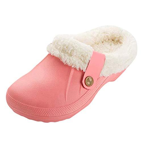 Pantuflas Planas con Forma de corazón de Peluche Suaves cálidas cómodas Antideslizantes para el tacón o el Animal Lovely Cartoon Panda Home Floor Zapatillas de Rayas Suaves Zapatos Femeninos CO 36