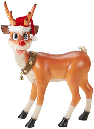 Christmas Decorations - Santa 's Christmas Red-Nosed Reindeer Decorations - Almost 4 Foot Tall Large Standing Reindeer Holiday Decor Statue