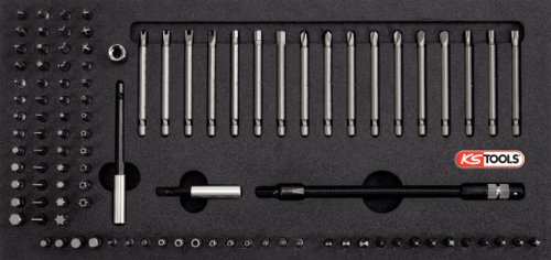 KS Tools 815.1330 1/4'' Universal Bit-Satz, 101-tlg. in 1/3 Systemeinlage