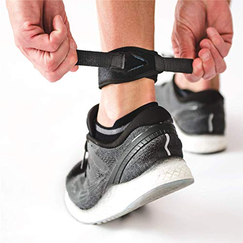 CROSSTRAP Achilles Strap by MDUB Medical Prevent Achilles Tendonitis | Running, Cycling, Hiking, Outdoor Sports | Black - 1 Strap (Small)