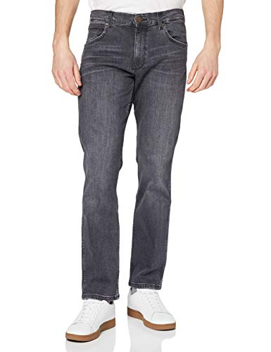 Wrangler Herren Greensboro Regular Jeans, Schwarz (Black Smoke 34C), 36W/36L