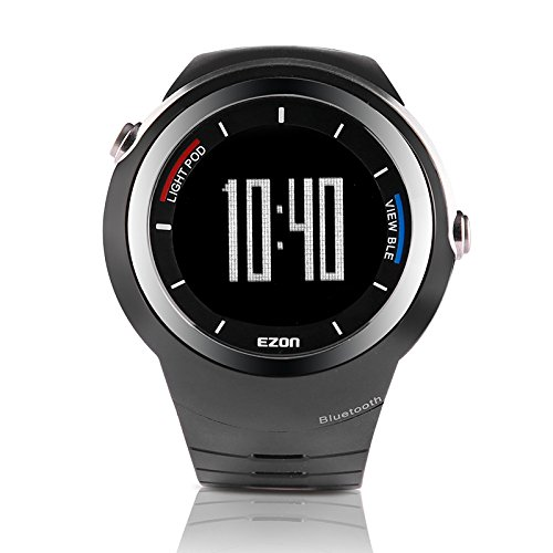 EZON S2A01 Smart Bluetooth Watch Multi-Functional Wristwatch Sports Digital Watches for iOS/Android Black