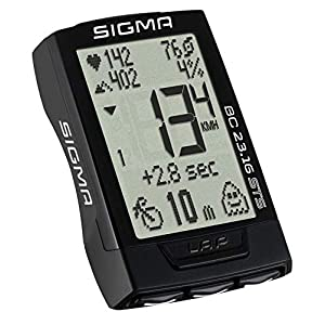 Sigma 02317 Ciclocomputador, Unisex Adulto, Negro, Talla Única