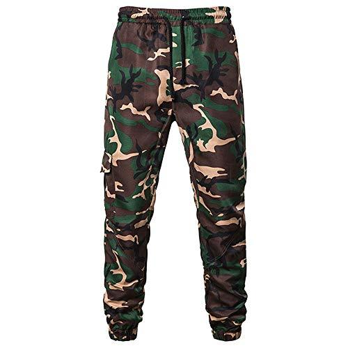 YLBH Pantalones De CháNdal Casuales De Camuflaje De Moda para Hombre Pantalones Cortos EláSticos Tejidos De Deporte para PantalóN Corto De Corte Entallado para Green L