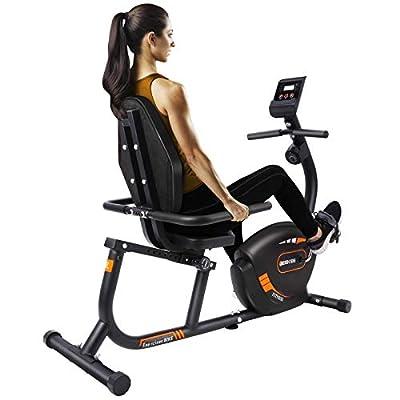 JEEKEE Recumbent Exercise Bike Indoor Bike with Resistance Adjustable,Alarm System,Ipad Holder for Home Workout