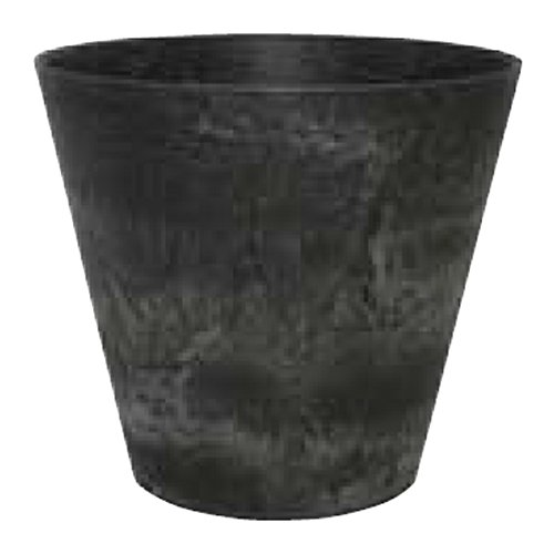 Artstone Pflanzgefäß Pflanzkübel Claire, frostbeständig und leichtgewichtig, Schwarz, 22x20cm