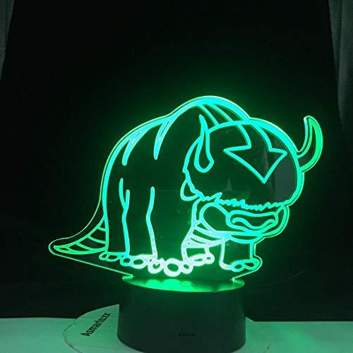 3D Phantom LED acrílico Head Night Light Ultimate Air Master Children 's room Decoration Children' s room