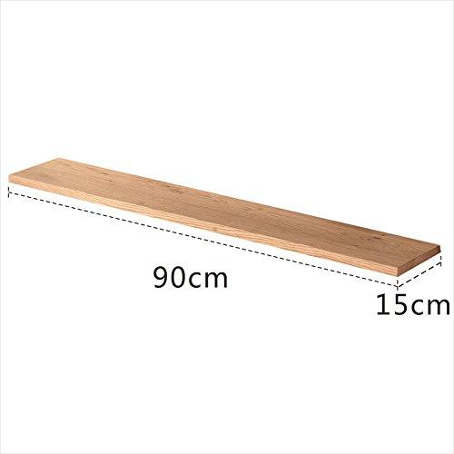 MEIDUO Étagères Racks étagères étagère flottante en bois 120cm/90cm/60cm/30cm très durable (Couleur : Wood, taille : 90cm)