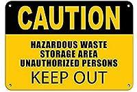 注意有害廃棄物保管エリア許可されていない立ち入り禁止