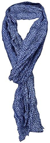 gecrashter TigerTie Seidenschal in blau marine gepunktet - 100% Seide - Gr. 180 x 50 cm