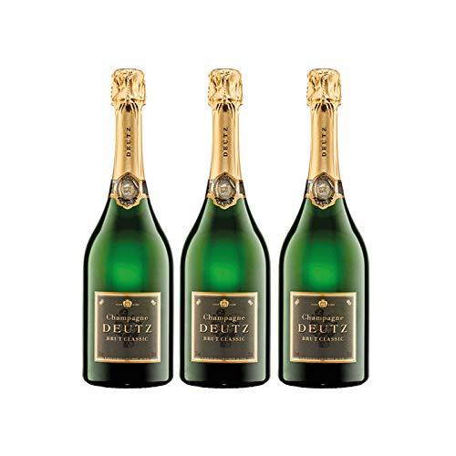 Deutz Champagne Brut Classic de 75 cl - D.O. Champagne - Bodegas Gonzalez Byass (Pack de 3 botellas)