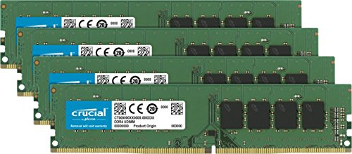 Crucial 32GB Kit (8GBx4) DDR4 2666 MT/s (PC4-21300) SR x8 DIMM 288-Pin Memory - CT4K8G4DFS8266