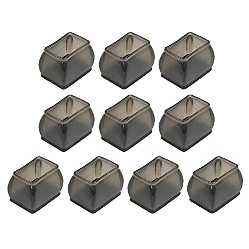 P Prettyia 10 tapas de patas de sillas para patas de sillas de todas las formas, fundas de silicona para patas de sillas de mesa de muebles para suelos de - Rectángulo S Negro