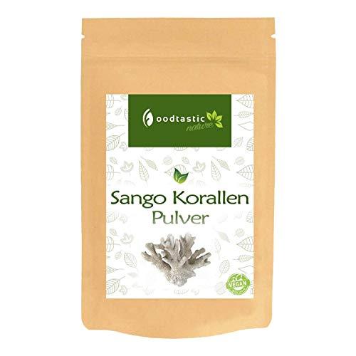Foodtastic Sango Koralle Pulver 250g   hochdosierte Calcium und Magnesium Quelle   100{7a414eb64c7865ecb2e4219da04be05b074669e66a8a97c27a75ea09bed0df38} Naturprodukt   Vorrat für 4 Monate   frei von Zusätzen   kombinierbar mit Vitamin D3 und Vitamin K2
