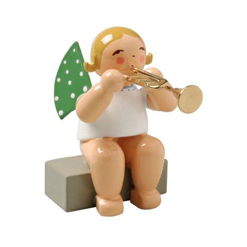 Wendt & Kühn Engel mit Trompete sitzend Größe 5-6 cm