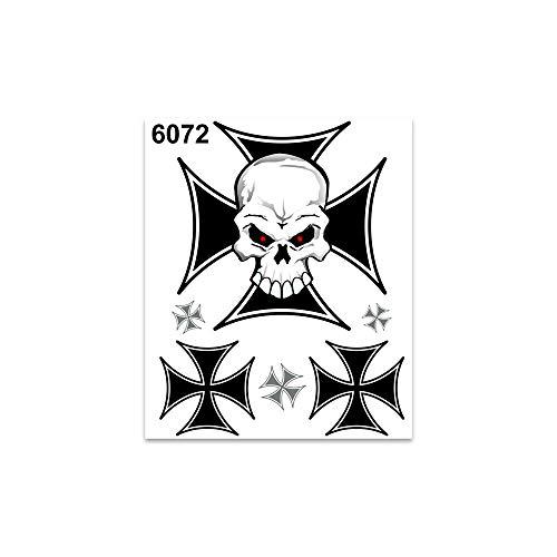 Quattroerre Villa D '6072Adhesivos Sticker Cruz Calavera, 10x 12cm