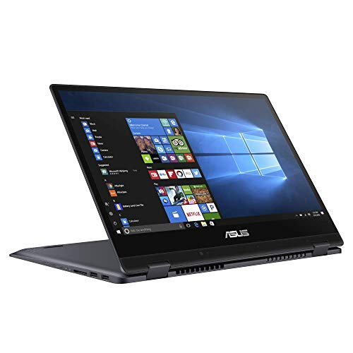 ASUS VivoBook Flip 14 TP412FA 35,5cm (14 Zoll, Full HD, IPS-Level, Touch) Convertible Notebook (Intel Pentium Gold 5405U, Intel UHD-Grafik 610, 4GB RAM, 128GB SSD, Windows 10S) Star Grey