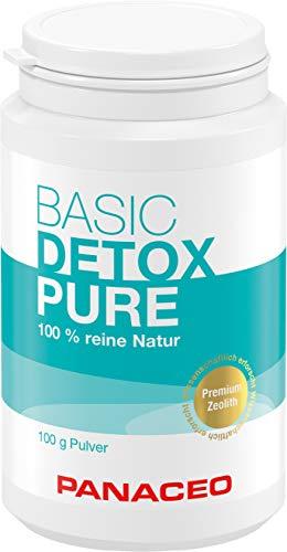 Panaceo Basic Detox pure: Veganes Medizinprodukt aus 100% Zeolith, zur Entgiftung des Darms, Pulver, 2-Wochen-Kur, 100 g