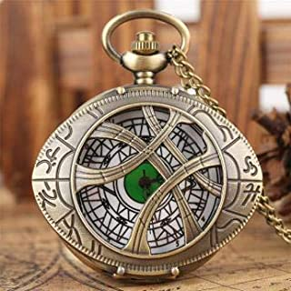 Retro Style Quartz Japanese Movement Universal Pocket Watches Collection with Chain, Beautiful Gift Box