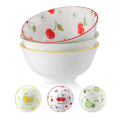 Insalatiera Ceramica - Ciotole Porcellana 1400ML- Grande Ciotola Colorate Scodella per Insalata | zuppa | Ramen | Noodle | Pasta | Macedonia | Minestr