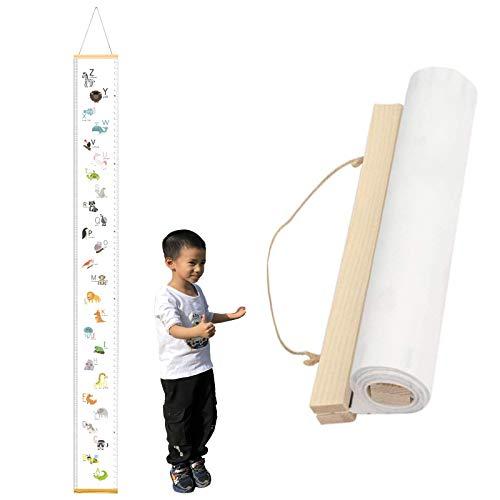 Tabla de crecimiento de bebé, lienzo para colgar en la pared, reglas de medición extraíbles, tabla de altura y crecimiento para niños y niñas, decoración de habitación (2)