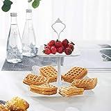 Jinlaili 3 Etagen Teller Plastik Weiß Tortenständer Kuchenständer, Cupcake Ständer Muffin Ständer Käseplatte Dessert Ständer für Hochzeit Party Geburtstag Baby Duschen Kuchen Dessert Torten Etagere - 7
