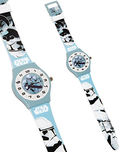 alles-meine.de GmbH Armbanduhr -  Star Wars - Stormtrooper  - 3-D Effekt Motiv - Analog - passend für Kinder & Erwachsene - Kinderuhr / Lernuhr - Kunststoff Armband - für Junge..