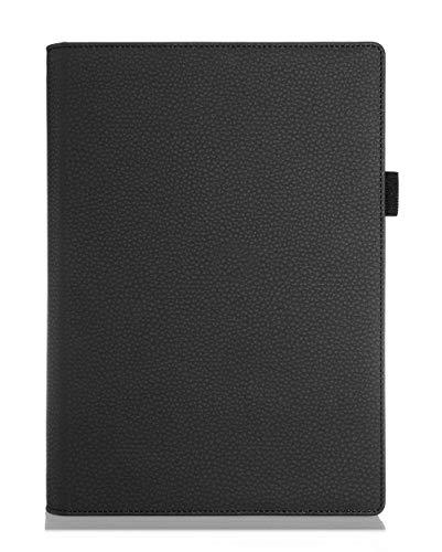 ISIN Funda para Tablet Serie Funda de Premium PU con Stand Función para Lenovo Yoga Tablet 2 10 de 10,1 pulgadas 1050 Android Tablet con Velcro Correa para la Mano y Ranuras para Tarjetas (Azul)
