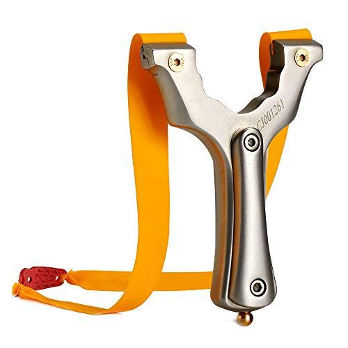 Huntingdoor Schleuder Zwille Steinschleuder Jagd Katapult Leistungsstarke Profi Schleuder Katapult mit 2 Schleuder Gummibändern