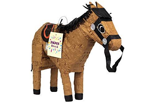 Trendario Pinata Geburtstag Pferd Für Jungen und Mädchen, Ideal zum Befüllen mit Süßigkeiten und Geschenken - Piñata für Kindergeburtstag Spiel, Geschenkidee, Party oder Hochzeit