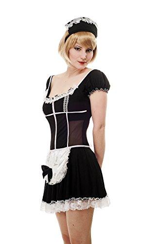 DRESS ME UP Kostüm Damen Damenkostüm Sexy Maid Hausmädchen Zimmermädchen Zofe L063 Gr. 36 / S