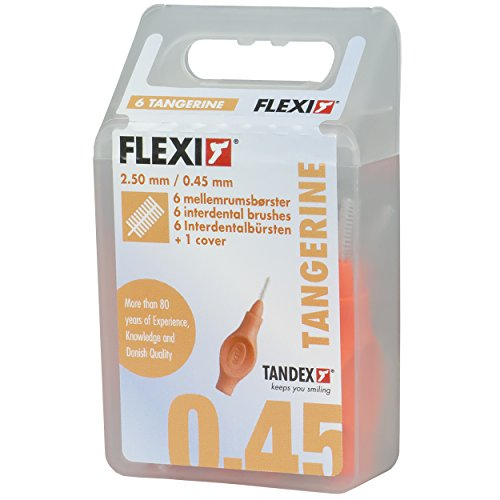 Tandex Flexi Interdentalbürsten 6 Stk. orange 0.45mm, 3er Vorteilspack (3 x 6 Stück)