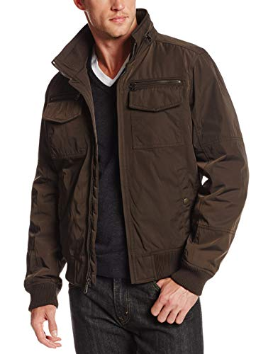 Tommy Hilfiger Men's Water and Wind Resistant Performance Bomber Jacket (Standard and Big & Tall), Army Green, Medium