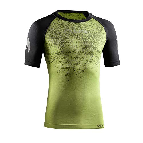 LURBEL Samba Pixel, maglietta tecnica, da corsa, da uomo, traspirante, anti-odore Verde pistacchio - nero X-Large